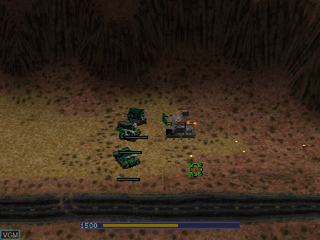In-game screen of the game Warzone 2100 on Sony Playstation