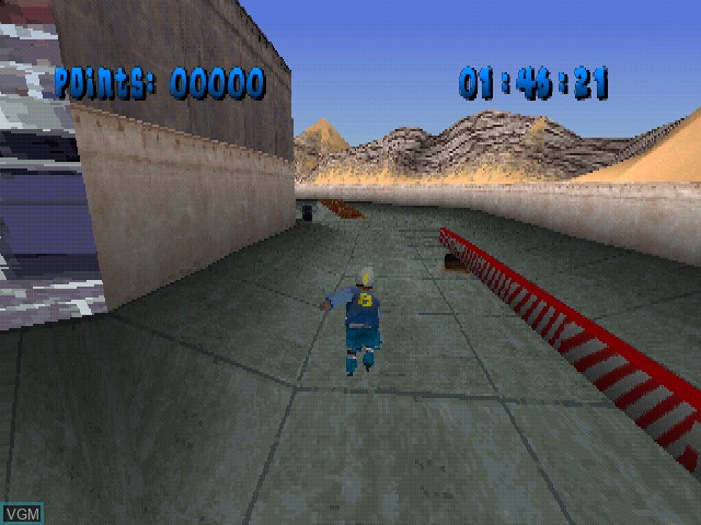 In-game screen of the game X-Bladez - Inline Skater on Sony Playstation