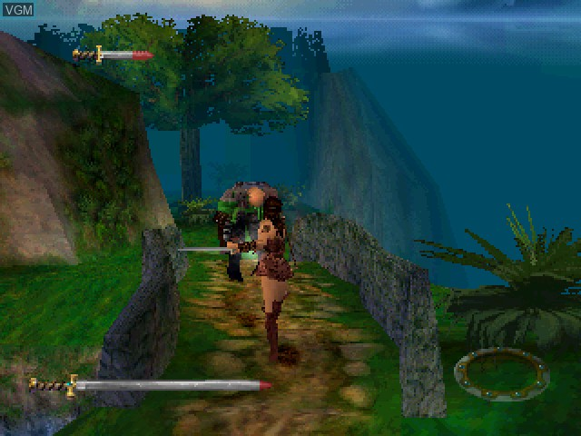 In-game screen of the game Xena - Warrior Princess on Sony Playstation