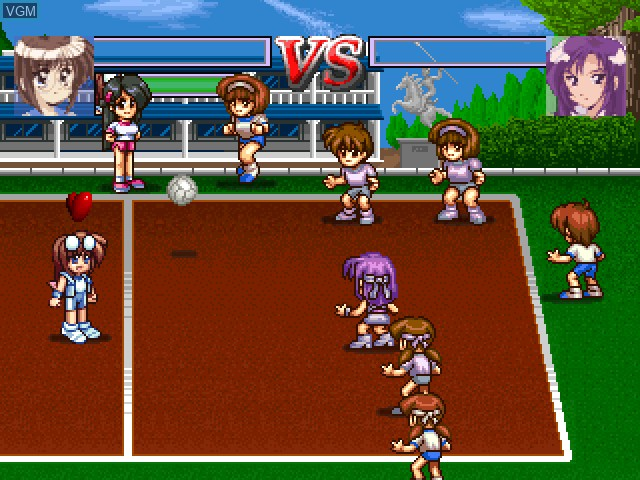 In-game screen of the game XS Junior League Dodgeball on Sony Playstation