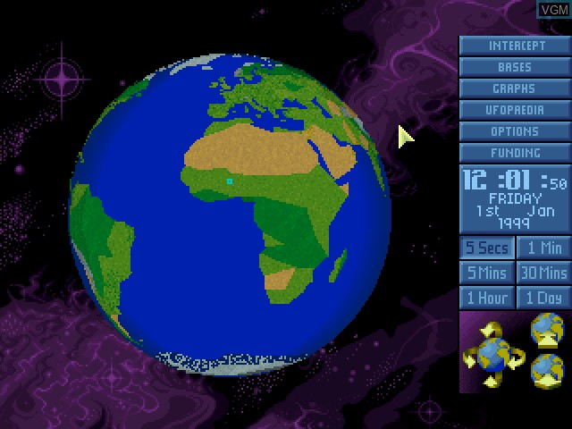 In-game screen of the game X-COM - UFO Defense on Sony Playstation