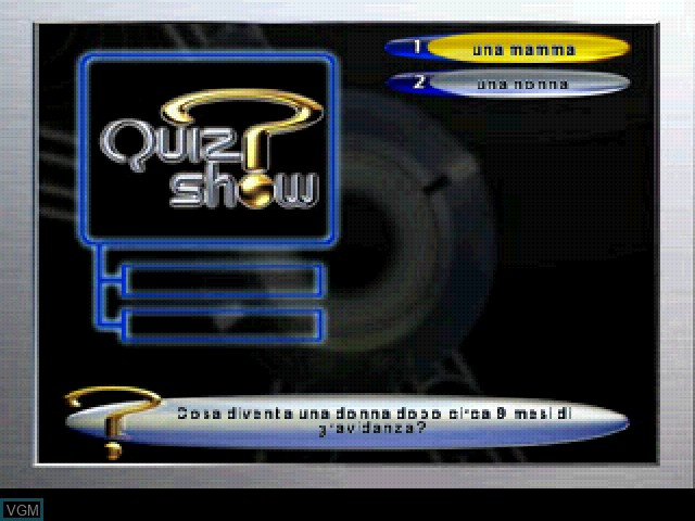In-game screen of the game Quiz Show on Sony Playstation