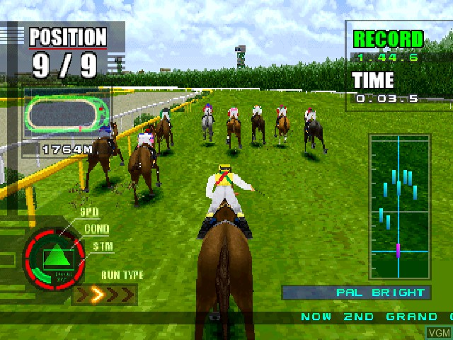 In-game screen of the game Gallop Racer 2 on Sony Playstation