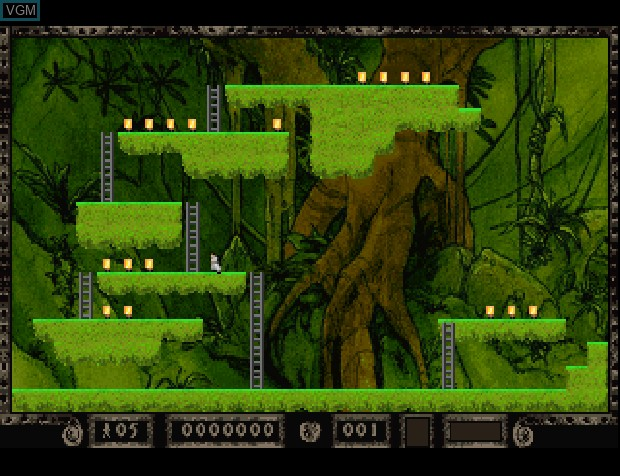 In-game screen of the game Lode Runner on Sony Playstation