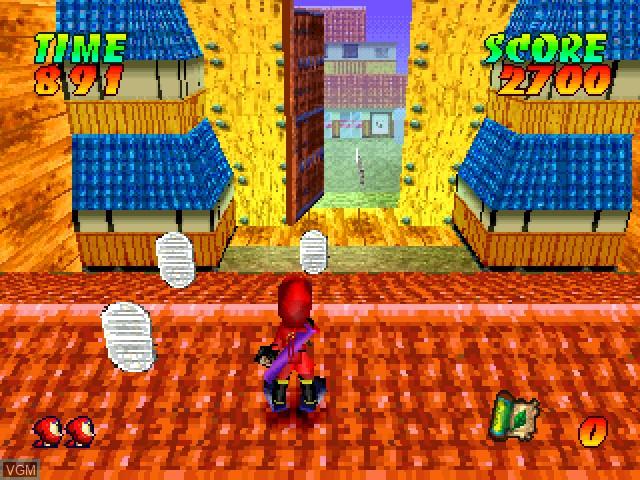 In-game screen of the game Ninja Jajamaru-kun - Onigiri Ninpouchou on Sony Playstation