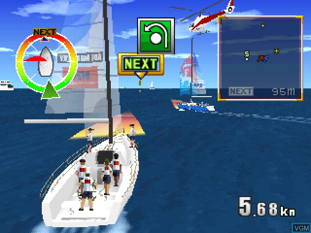 In-game screen of the game Yacht Racing Game 1999 - Ore no Yatto - Ganbare Nippon Challenge on Sony Playstation
