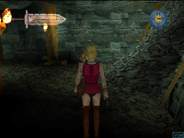 In-game screen of the game Lost Sword on Sony Playstation