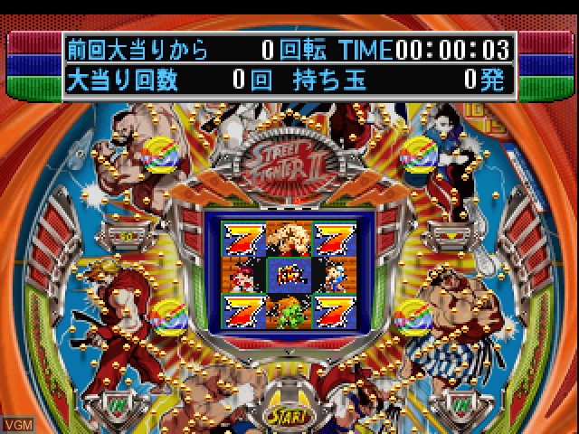 In-game screen of the game Fever 4 - Sankyo Koushiki Pachinko Simulation on Sony Playstation