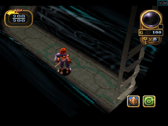 In-game screen of the game Alundra 2 - A New Legend Begins on Sony Playstation
