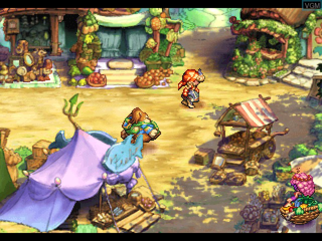 In-game screen of the game Legend of Mana on Sony Playstation