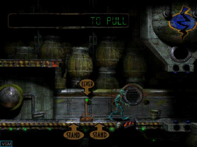 In-game screen of the game Oddworld - Abe's Oddysee on Sony Playstation
