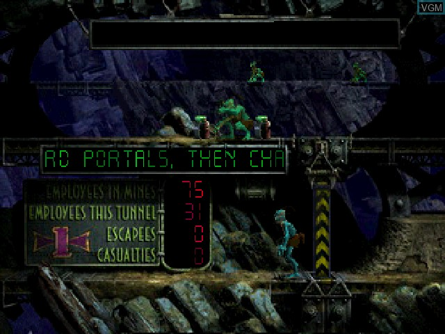 In-game screen of the game Oddworld - Abe's Exoddus on Sony Playstation