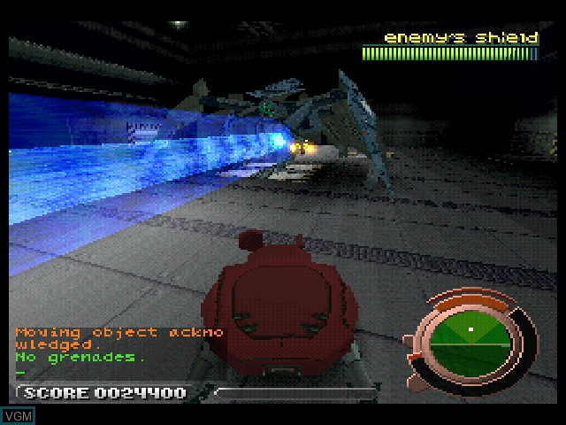 In-game screen of the game Ghost in the Shell on Sony Playstation