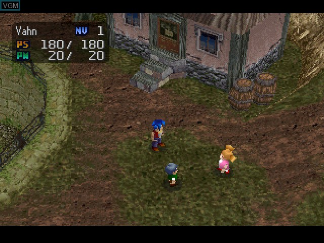 In-game screen of the game Legend of Legaia on Sony Playstation