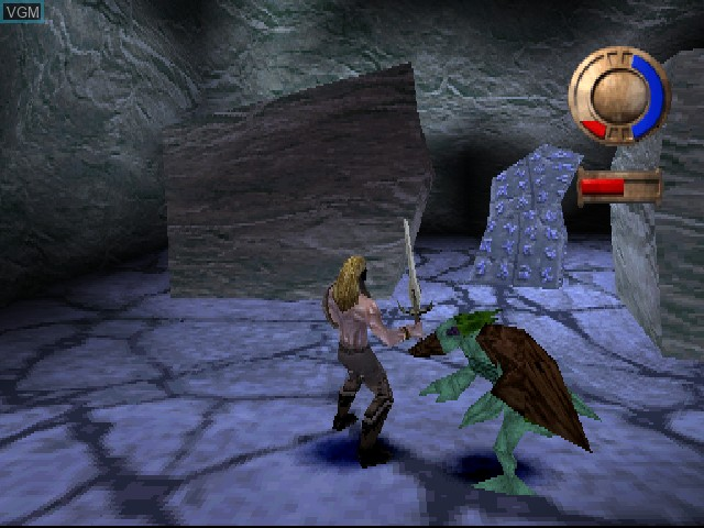 In-game screen of the game Warriors of Might and Magic on Sony Playstation
