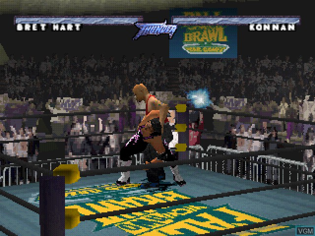 In-game screen of the game WCW-nWo Thunder on Sony Playstation