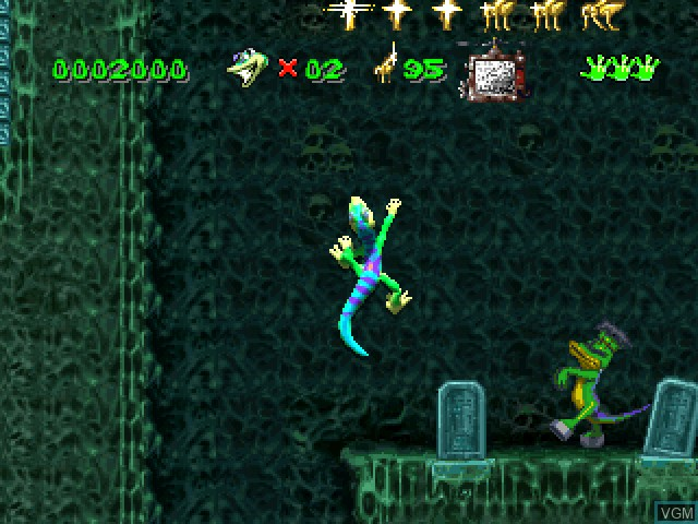 In-game screen of the game Gex on Sony Playstation