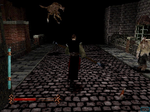 In-game screen of the game Nightmare Creatures on Sony Playstation