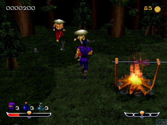 In-game screen of the game Ninja - Shadow of Darkness on Sony Playstation