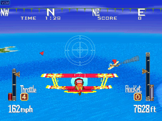 In-game screen of the game Aces of the Air on Sony Playstation