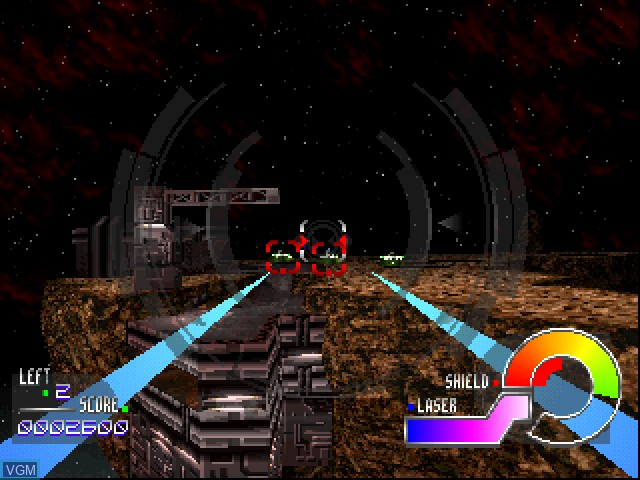 In-game screen of the game Jupiter Strike on Sony Playstation