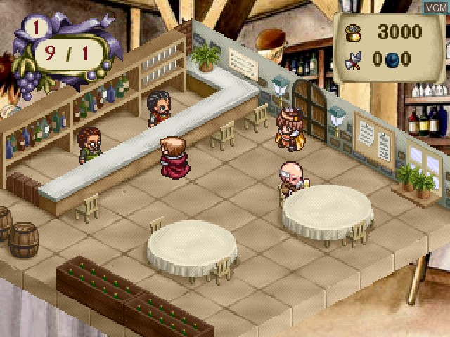 In-game screen of the game Elie no Atelier - Salburg no Renkinjutsushi 2 on Sony Playstation