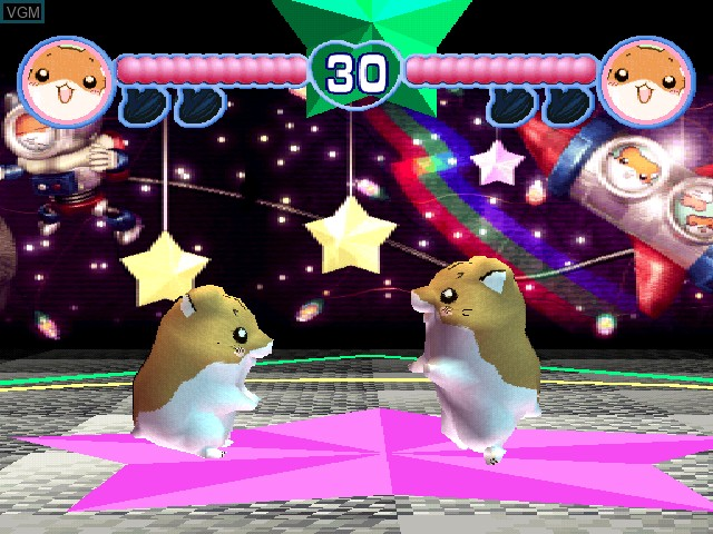In-game screen of the game Hamster Club I on Sony Playstation
