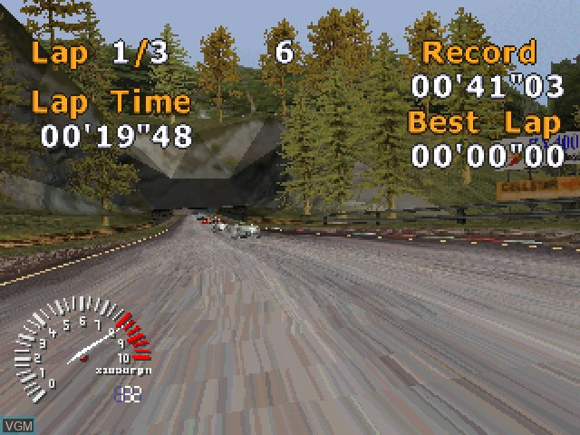 In-game screen of the game 5 Star Racing on Sony Playstation