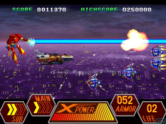 In-game screen of the game 70's Robot Anime - Geppy-X on Sony Playstation