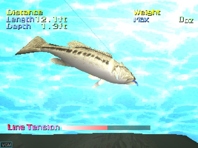 In-game screen of the game Action Bass on Sony Playstation