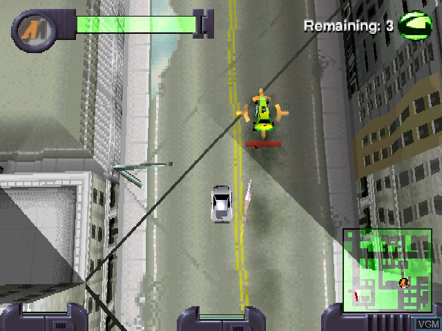 In-game screen of the game Action Man - Mission Xtreme on Sony Playstation