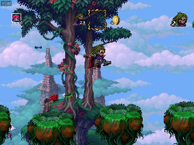 In-game screen of the game Adventures of Lomax, The on Sony Playstation