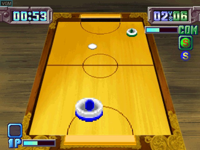 In-game screen of the game Air Hockey on Sony Playstation
