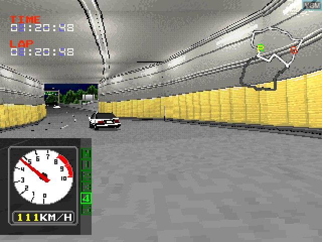 In-game screen of the game C1 - Circuit on Sony Playstation
