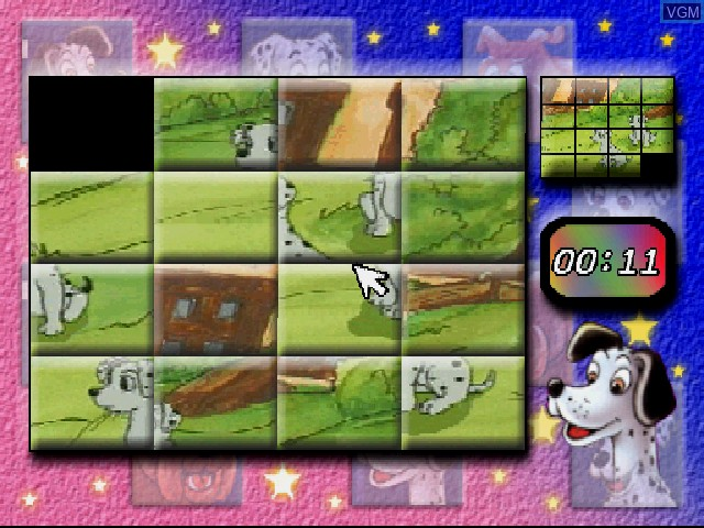 In-game screen of the game Dalmatians, The on Sony Playstation