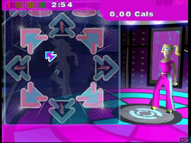 In-game screen of the game Dance - UK on Sony Playstation