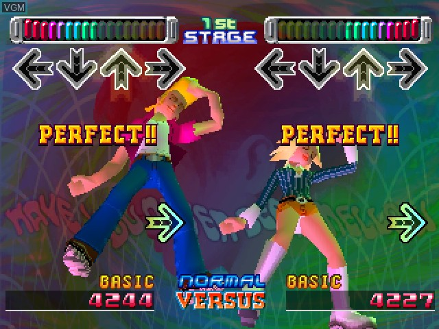 In-game screen of the game Dance Dance Revolution - Best Hits on Sony Playstation