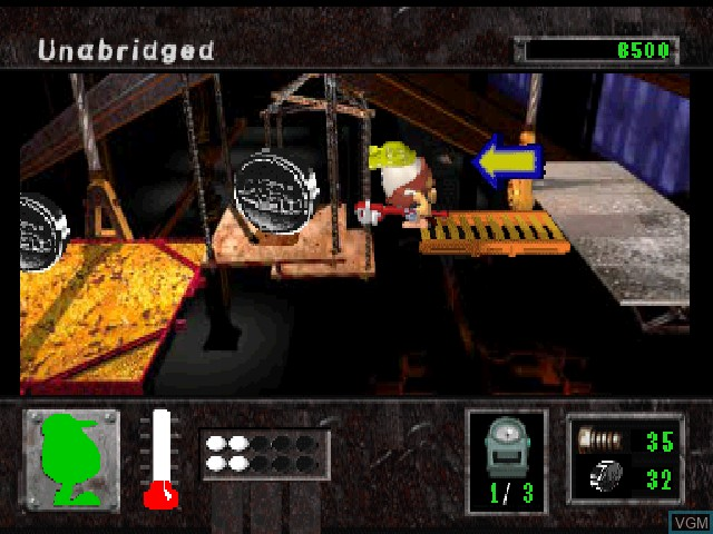 In-game screen of the game Eggs of Steel - Charlie's Eggcellent Adventure on Sony Playstation