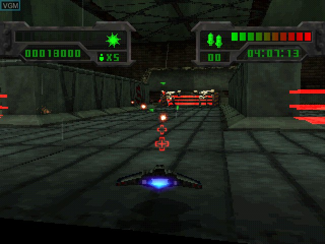 In-game screen of the game Eliminator on Sony Playstation