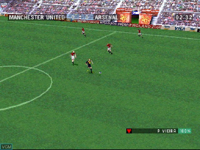In-game screen of the game F.A. Premier League Stars, The on Sony Playstation