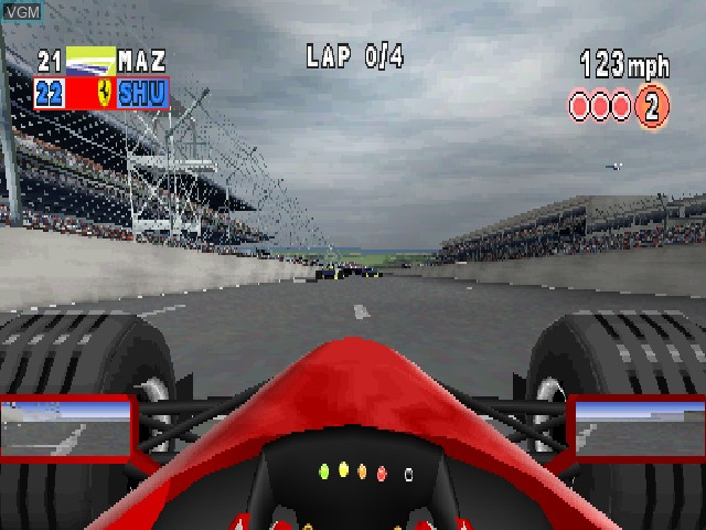 In-game screen of the game F1 2000 on Sony Playstation