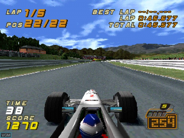 In-game screen of the game F1 Racing Championship on Sony Playstation
