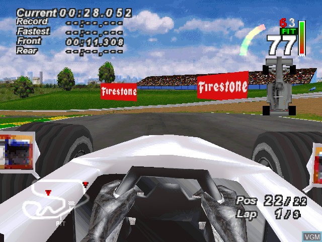In-game screen of the game F1 World Grand Prix - 1999 Season on Sony Playstation
