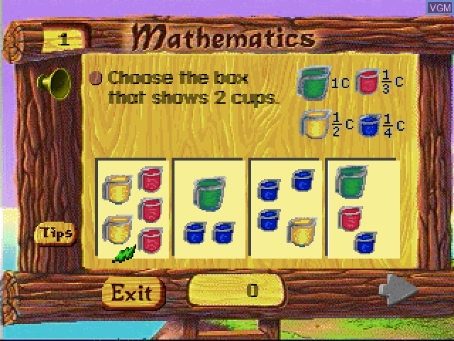 In-game screen of the game Faire Games - Mathematics on Sony Playstation