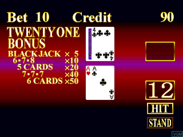 In-game screen of the game Family Card Games Fun Pack on Sony Playstation