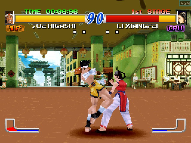 In-game screen of the game Fatal Fury - Wild Ambition on Sony Playstation
