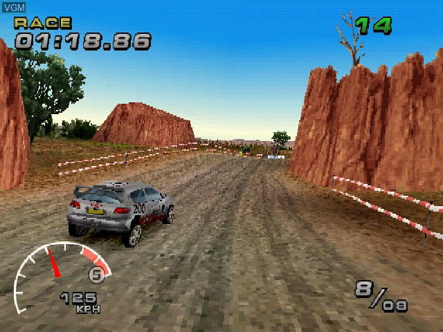 In-game screen of the game WRC - FIA World Rally Championship Arcade on Sony Playstation
