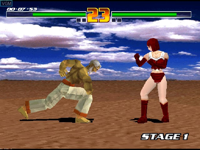 In-game screen of the game Fighter Maker on Sony Playstation