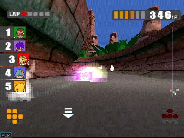 In-game screen of the game Firebugs on Sony Playstation
