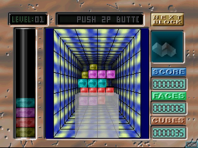 In-game screen of the game Geom Cube on Sony Playstation